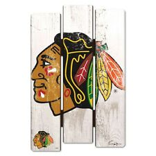 """CHICAGO BLACKHAWKS FENCE WOOD SIGN 11""""X17'' BRAND NEW FREE SHIPPING WINCRAFT"""
