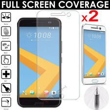 2x FULL SCREEN Face Curved TPU Screen Protector Cover Guards For HTC 10