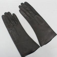 New listing Black Soft Leather Vintage Bracelet Length Gloves Size 7