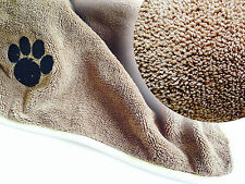 Pet blanket, super soft, super warm & super cosy, thick microfibre.  2 sizes.