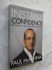 INSTANT CONFIDENCE **SIGNED PAUL McKENNA** S/B 2006 PLUS CD.NEW UNREAD,UNUSED