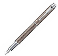 PARKER IM PREMIUM BROWN SHADOW CHROME TRIM FOUNTAIN PEN MEDIUM NIB NEW IN BOX