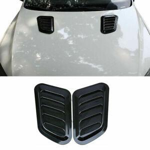 CAR Decorative Air Flow Intake Scoop Bonnet Vents Cover Hood Carbon Fiber Look