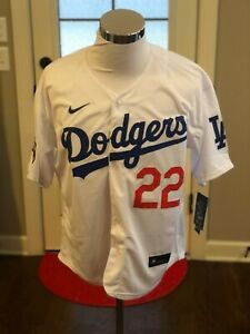 Los Angeles Dodgers #22 Clayton Kershaw White World Series Champions Jersey