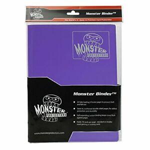 Monster Binder - 9 Pocket Trading Card Album - Matte Coral Purple - Holds 360