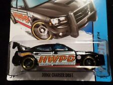 HOT WHEELS 2014 HW CITY #48 DODGE CHARGER DRIFT HOTWHEELS BLACK MOPAR POLICE
