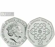 50p Girl Guiding  2019 Change Checker  Uncirculated BUNC Fifty Pence Coin