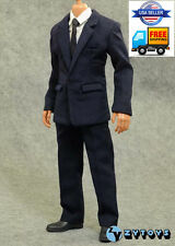 1/6 Scale Dark Blue Business Suit Agent Clothes For Hot Toys Male Figure ❶USA❶