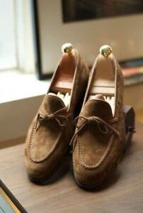 Handmade Men's Tassel loafer Brown leather Shoes, Men dress shoes