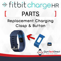 Fitbit Charge HR Replacement Charging Clasp & Button Back Plastic Band Clip