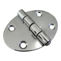 Oval Shaped Hinge, Stainless Steel, Available In 2 Sizes