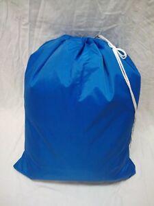 PREMIUM WATERPROOF 1000 DENIER 30x40 NYLON LAUNDRY BAG- BLUE    ***USA MADE***