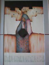 1987 Rare Amado Pena Arizona Native American Indian Abstract Lithograph Print