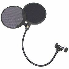 Double-Head Pro Studio Microphone POP Filter Wind Screen