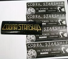 COBRA STARSHIP While The City Sleeps.. 10 Black/Gold RARE PROMO STICKERS