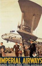 "Vintage Imperial Air ""Service to 4 Continents""  Poster"
