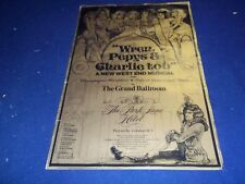 1978 WREN PEPYS & CHARLIE TOO GRAND BALLROOM THEATER POSTER - P 129