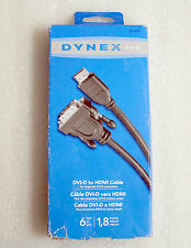 DYNEX SINGLE-LINK DVI-D TO HDMI CABLE (6FT / 1.8M) - DX-AV011