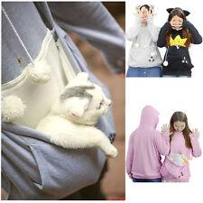 Frauen Mewgaroo Känguru Katze Hund Haustier Casual Coat Hoodie Oberbekleidung