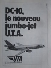 1973 PUB UTA AIRLINE MCDONNELL DOUGLAS DC-10 AIRLINER ORIGINAL FRENCH AD