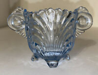 Vintage Glass 1940s Cambridge Glass Co Moonlight Blue Open Caprice Sugar Bowl