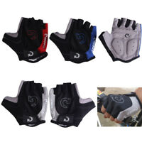 Cycling Bicycle Motorcycle Sport Gel Half Finger Gloves Size S- XL 3 Colors NI5L