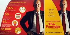 THE FOUNDER MICHAEL KEATON FILM MOVIE FLYER - RAY KROC MCDONALDS