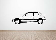 Peugeot 205 gti 1.6 / 1.9 wall art Car decal graphic sticker (large Retro Rally)