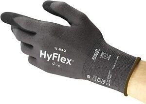12 x Ansell HyFlex 11-840 Lightweight Comfort Stretch FORTIX Glove Foam Nitrile