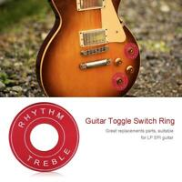 2 x Pro Wine Red Toggle Switch Washer Rhythm Treble Ring Plate for LP EPI Guitar