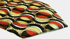 Men's Cocktail Collection Red Multi-Color Geometric 100% Silk Neck Tie NEW
