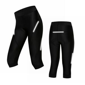 Womens Cycling Cropped Pants 5D Gel Padded Bicycle Sport Gym Workout Tight Pant
