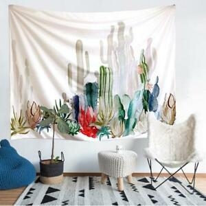 Tapestry Wall Hanging Living Room Cotton Cactus Desert Plant Dorm Home Decor FB