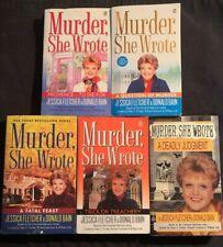 Lot of 5  Murder She Wrote- Fatal Feast- Trick or Treachery- by Fletcher,  Bain