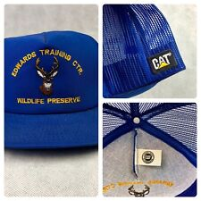 Vintage Caterpillar Cat Hat Edwards Training Center Wildlife Preserve SnapBack