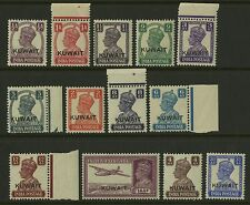 Kuwait  1945   Scott # 59-71  Mint Never Hinged Set