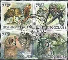 Timbres Oiseaux Hiboux Togo 2912/5 o année 2012 lot 17717 - cote : 17 €