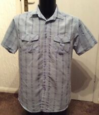 "Lincoln Blue Check Shirt Size M 38-40"" Chest"