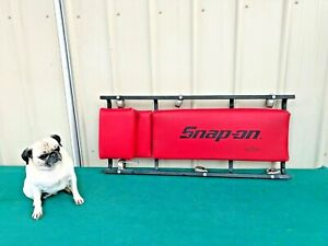 Snap On Flat Heavy Duty Creeper JCW62R Made in USA Red Vinyl