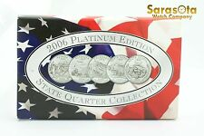2006 State Quarter Collection Platinum Edition with COA 5 Coin Set
