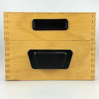 50er 60er Jahre Karteikasten Holz Archiv Aufbewahrung Mid Century Design 5/15