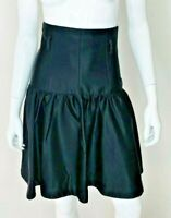 REVIEW Womens Size 6 Black Sheen High Waisted Modern Work To Cocktail Skirt