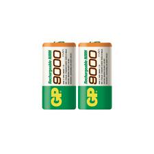 GP D Rechargeable NiMH Batteries, HR20 900DHC - 9000mAh 2-Count