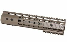 "FDE 10"" inch ULTRA-LIGHT Super Slim KEYMOD Handguard Free Float Flat dark earth"