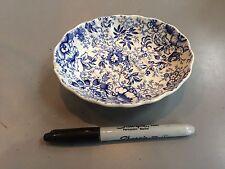 RARE VINTAGE BLUE & WHITE FLORAL JAMES KENT OLD FOLEY SOAP DISH CHINTZ ENGLAND