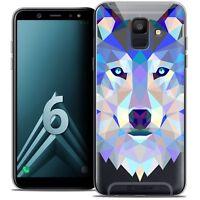 "Coque Housse Etui Pour Samsung Galaxy A6 2018 (5.45"") Polygon Animal Souple Fin"