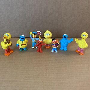 Vintage Lot of 8 PVC Figures Applause Sesame Street Muppets Big Bird Elmo Ernie