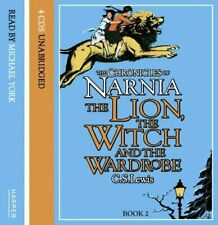 CHRONICLES OF NARNIA LION WITCH & WARDROBE FULL 4 CD AUDIO BOOK SEALED YORK