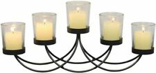 Black Metal Votive Candleholder Candelabra NEW country candle centerpiece