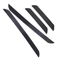 4x Auto Tür Einstiegsleisten Schutzleisten Kohlefaser Door Step Scuff Plates